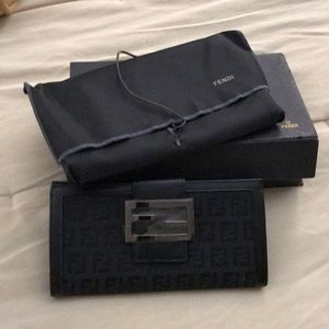 Authentic new black Fendi wallet. Never used